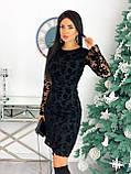 Платье женское с кружевом вечернее нарядное, фото 4