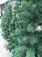 Елка искусственная европейская 150 см, иголки леска ПВХ Италия, трубчаты пушистый ствол, многоярусная пышная