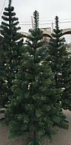 Елка искусственная европейская 200см, иголки леска ПВХ Италия, трубчаты пушистый ствол, многоярусная, фото 3