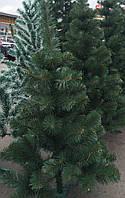 Ёлка европейская зелёная 100 см иголки леска ПВХ Италия, трубчаты пушистый ствол, многоярусная