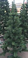 Елка искусственная европейская 130см, иголки леска ПВХ Италия, трубчаты пушистый ствол, многоярусная