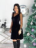 Платье женское бархатное вечернее нарядное, фото 3