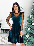 Платье женское бархатное вечернее нарядное, фото 8