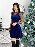 Платье женское бархатное вечернее нарядное, фото 5