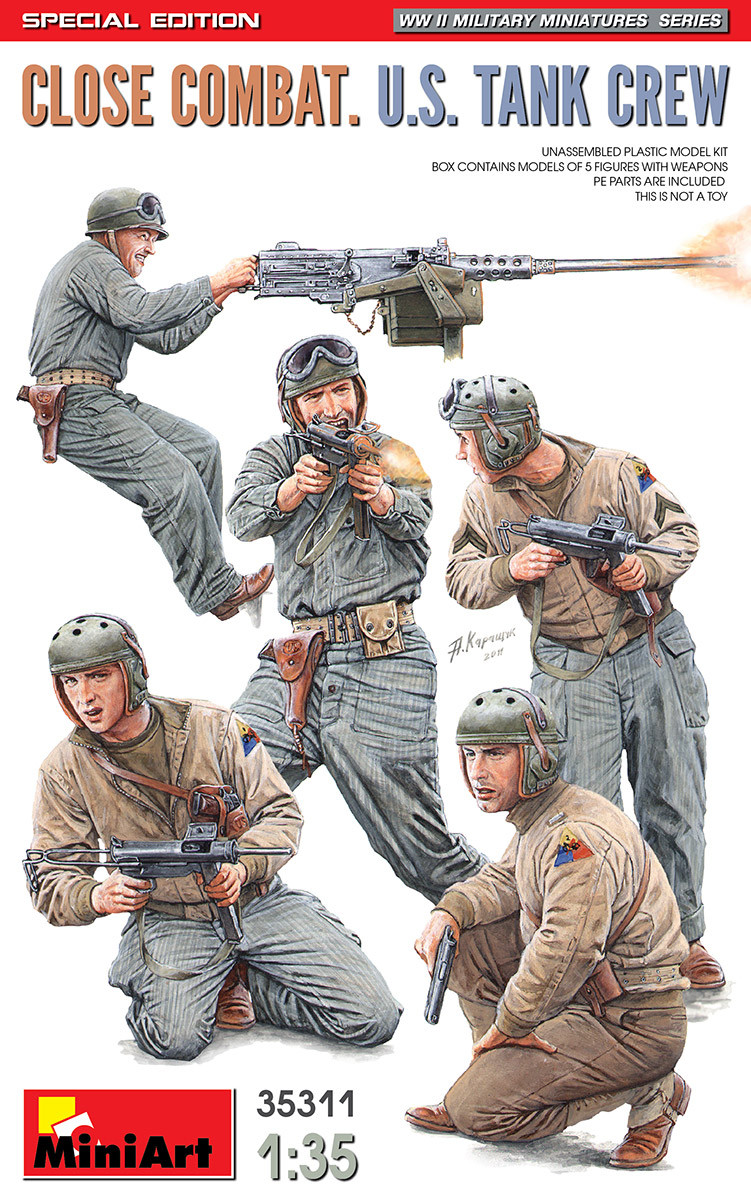 Американский танковый экипаж. Набор пластиковых фигур. 1/35 MINIART 35311