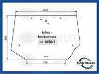 Стекло CASE MX 100 110 120 135 150 170 80C 90C 100C CX 50 60 70 80 90 100 заднее бесцветное