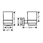 LOGIS набор аксессуаров: крючок, мыльница, держатель туалетной бумаги, стакан, туалетная щётка, фото 3