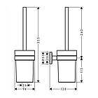 LOGIS набор аксессуаров: крючок, мыльница, держатель туалетной бумаги, стакан, туалетная щётка, фото 4