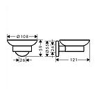 LOGIS набор аксессуаров: крючок, мыльница, держатель туалетной бумаги, стакан, туалетная щётка, фото 6