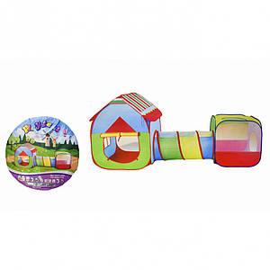 Детская палатка T011-10B домик с тоннелем
