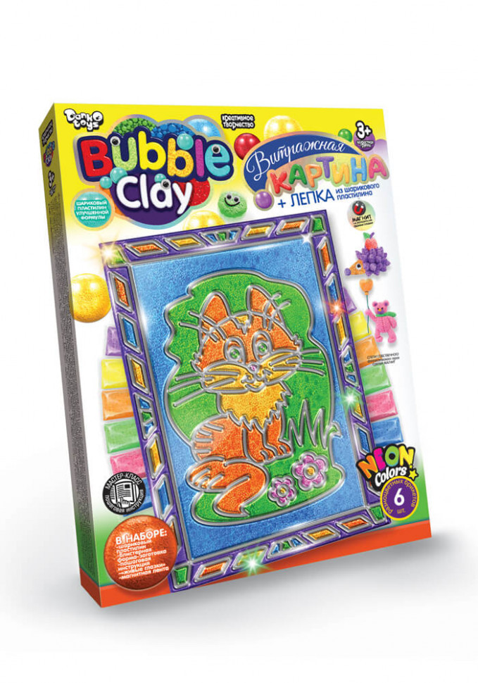 "Набор креативного творчества 8063DT ""Bubble Clay"" Витражная картина"