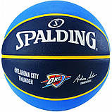 Мяч баскетбольный Spalding NBA Team OC Thunder Size 7, фото 2