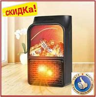 Обогреватель электрический с пультом портативный Flame Heater 1000 Вт