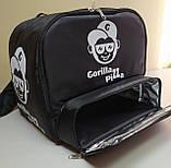 Рюкзак, термосумка для доставки еды с отделением для коробок на пиццу 42*42 см, фото 2