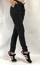 Спортивные теплые трикотажные штаны, № 015 чёрный, фото 2