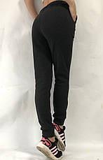 Спортивные теплые трикотажные штаны, № 015 чёрный, фото 3