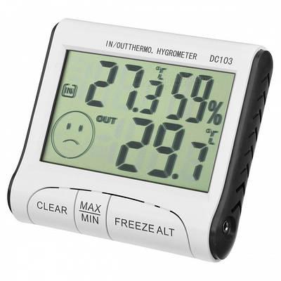 Термометр-гигрометр с выносным датчиком Digital DC-103 Белый (20053100176)