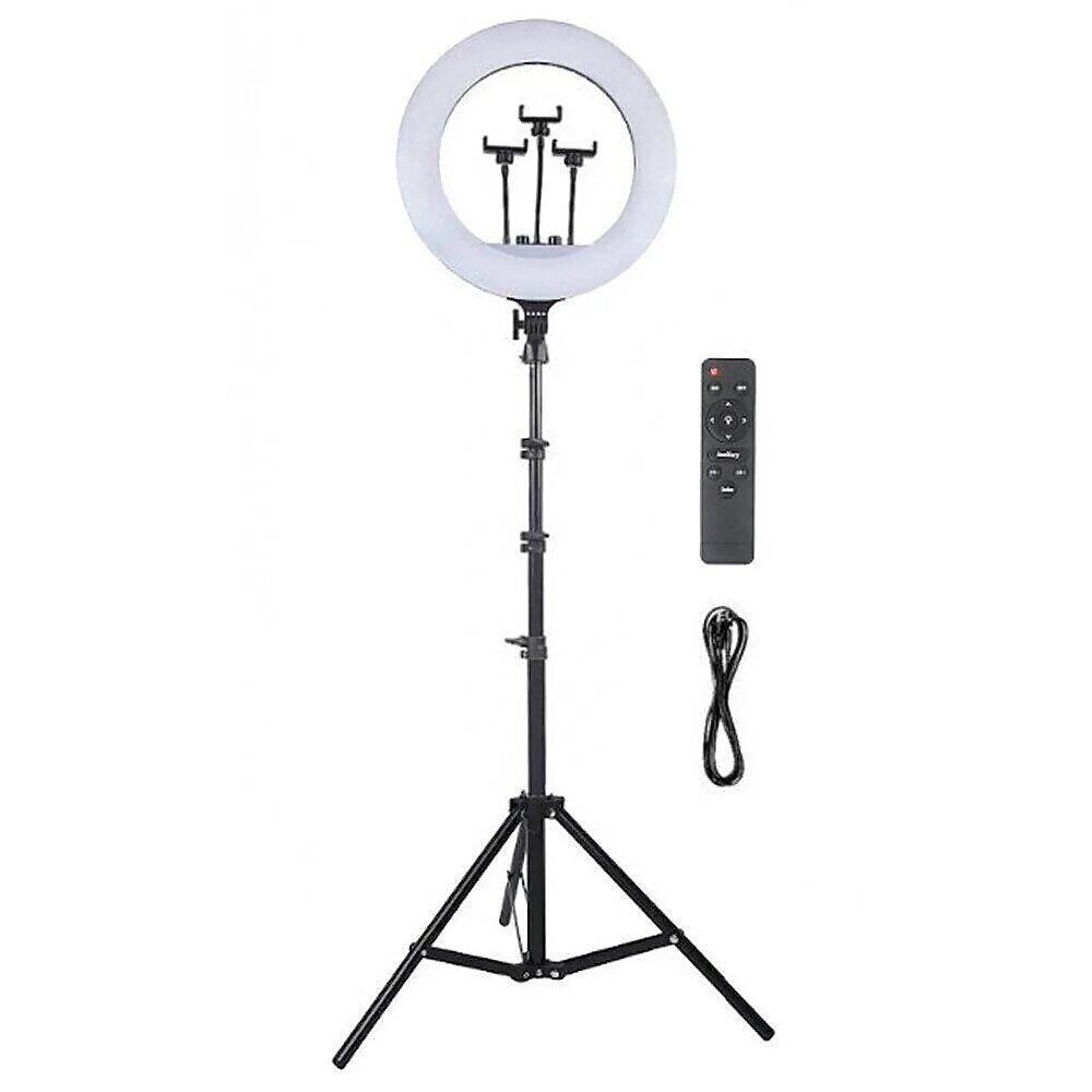 Кольцевая лампа 45 см LED RL - 18 с штативом 210 см, 48 вт