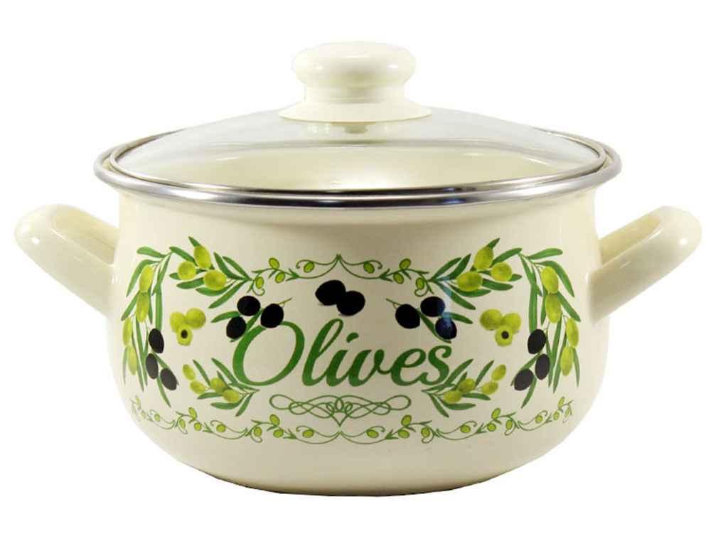 Кастрюля эмалированная Interos Греческие оливки 5 л (567 Т)