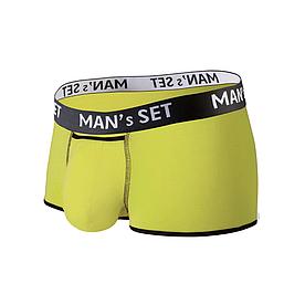 Чоловічі анатомічні спортивні боксери з бавовни, Sport, лимонний