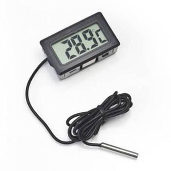 Цифровой термометр с LCD и выносным датчиком Digital TPM-10 Черный (20053100255)