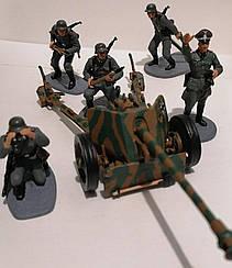 Пушка 76,2-мм дивизионная и 5 фигурок   Боевой расчет периода Второй Мировой Войны   В масштабе 1:32