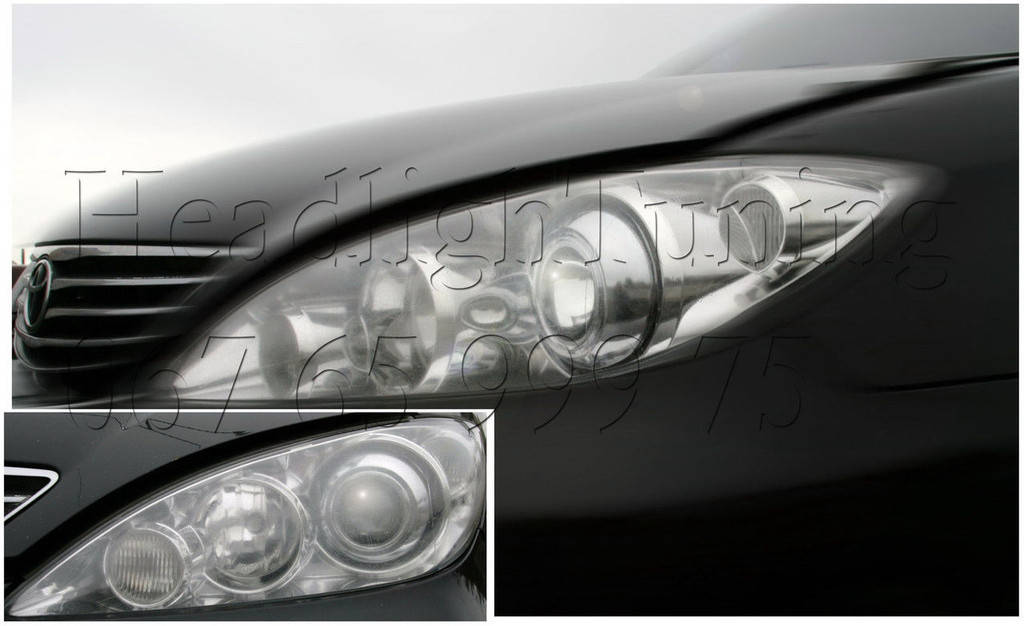 Установка биксеноновых линз в фары Toyota Camry XV 30