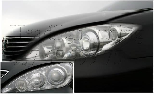 Установка биксеноновых линз в фары Toyota Camry XV 30 1