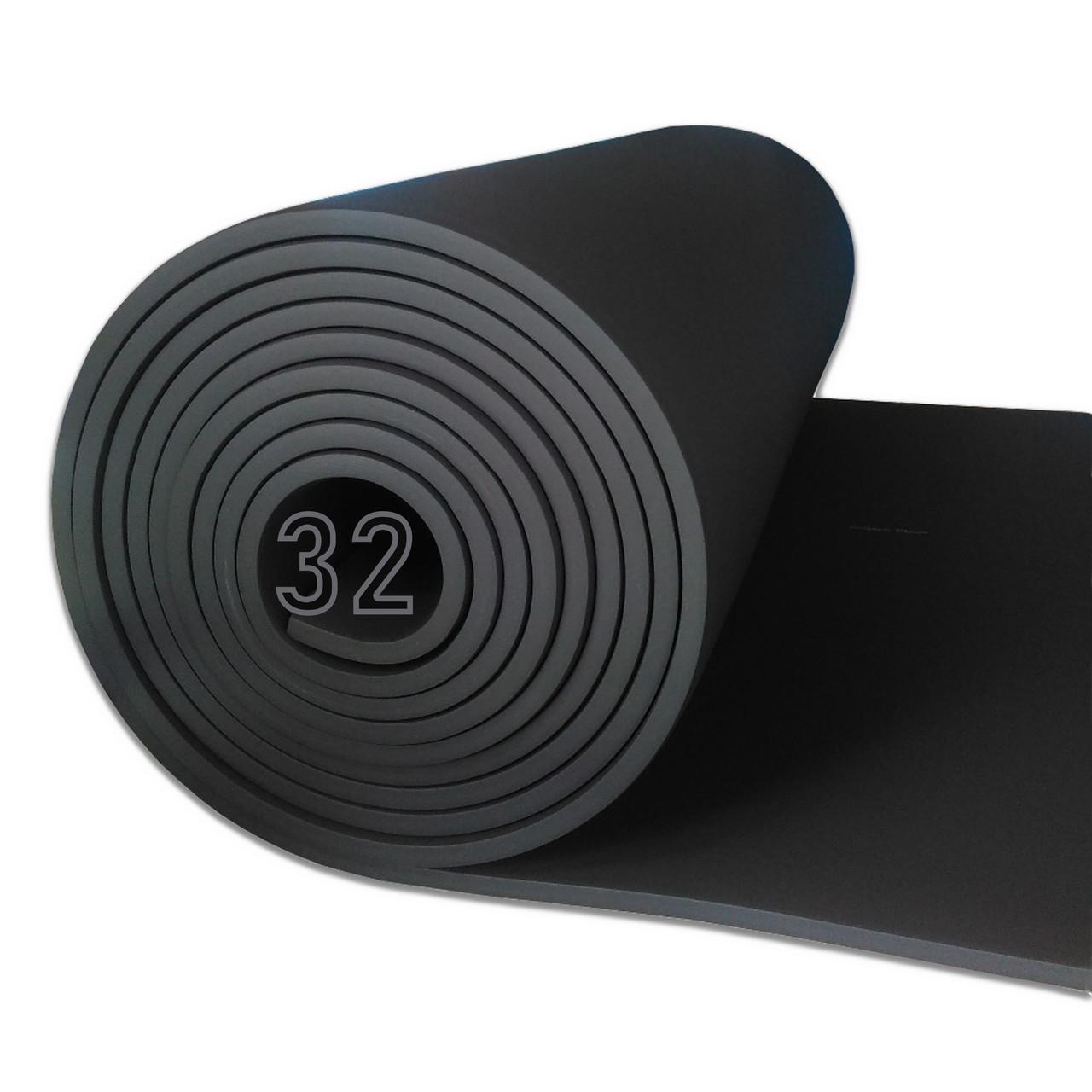 Вспененный каучук 32 мм цена за рулон (утеплитель, шумоизоляция)
