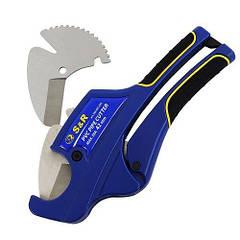 Труборез ножницы для труб ПВХ S&R до 42 мм, с запасным лезвием 188001042