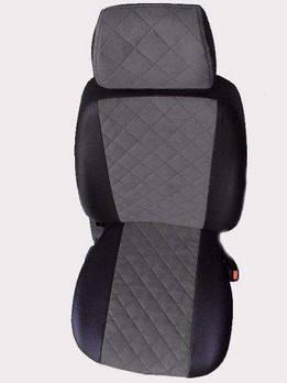 Чехлы на сиденья Фольксваген Джетта (Volkswagen Jetta) (универсальные, экокожа+Алькантара, с отдельным