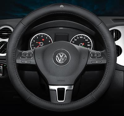 Чехол оплетка Cool на руль для автомобиля Volkswagen натуральная кожа