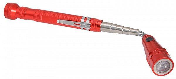 Дм-46А Фонарик красный с выдвижным магнитным захватом, Аско [a0200020086]