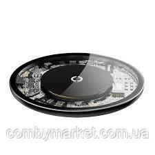 Беспроводное зарядное BaseUS 10W прозрачное
