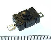 B079 18x12x6,5мм Фиксирующаяся кнопка для переключатель фонарика KAN 250 В переменного тока самоблокирующий