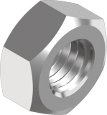 DIN934 Гайка М8 8, цинк белый, левая резьба, METALVIS Украина [60201000060082008L]