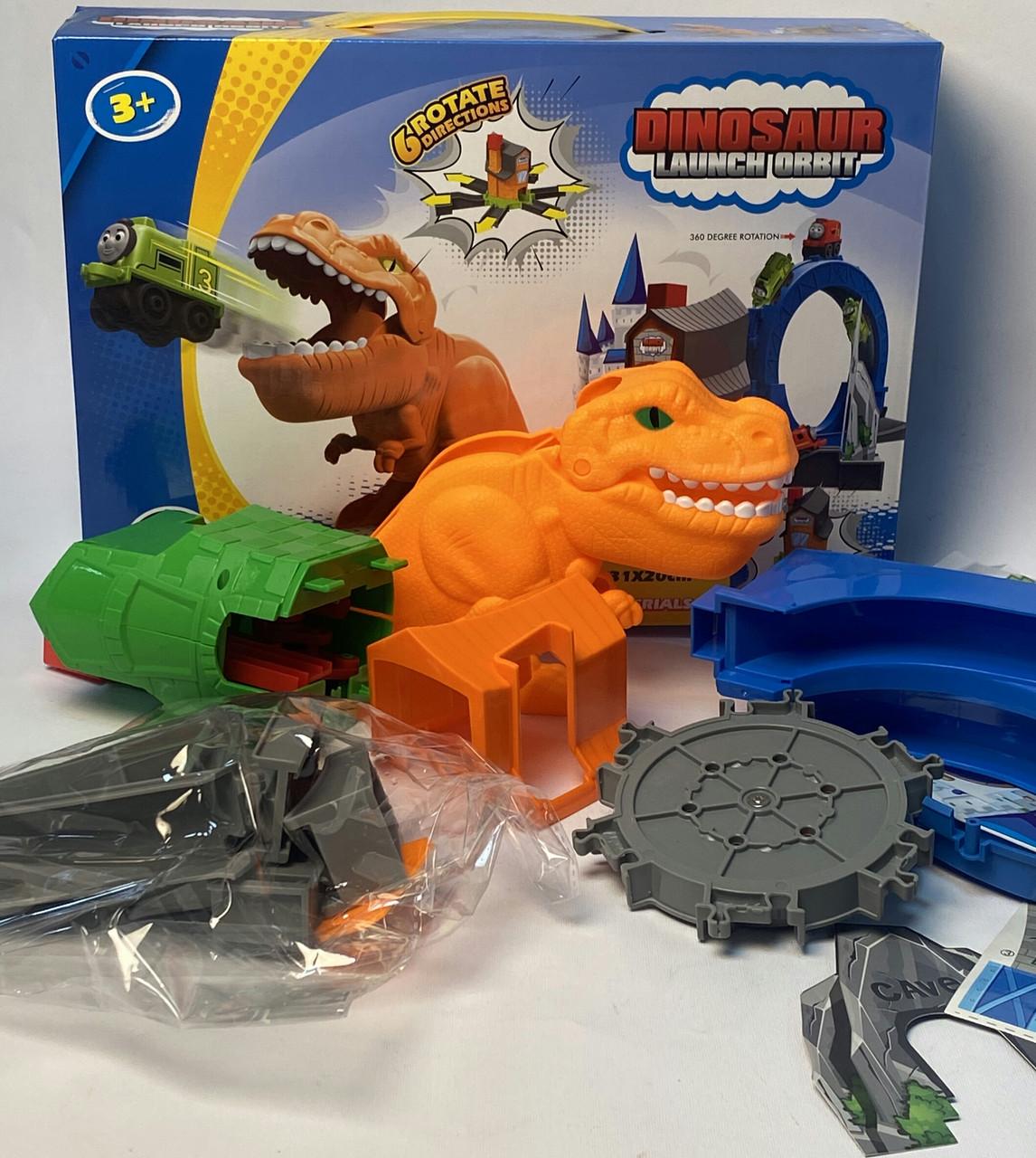 Трек динозавр з паровозиками 331303