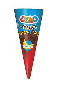 Вафельный рожок со вкусом банана Ozmo Cornet, 25 г (24 шт у коробке)