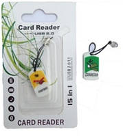 Картридер T-Flash/Micro SD Micro Card Reader ANGRY BIRDS (прямоугольный)