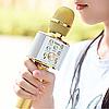Портативный караоке микрофон со встроенным динамиком Hoco BK3  Cool sound KTV Gold, фото 2