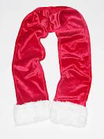 Новогодний шарф санта клауса  детский