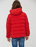 Зимова тепла коротка курточка на хлопчика на хутрі з капюшоном, фото 2