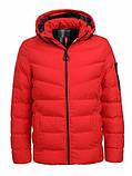 Зимова тепла коротка курточка на хлопчика на хутрі з капюшоном, фото 3