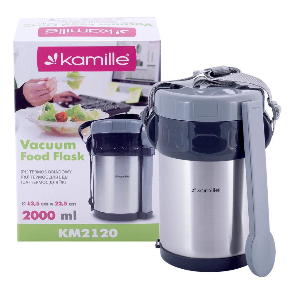 Термос пищевой Kamille 2000мл из нержавеющей стали KM-2120