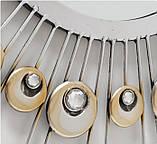 Настенный декор зеркало Расмус шампанское d82см, фото 2