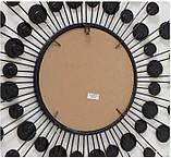 Настенный декор зеркало Расмус шампанское d82см, фото 4