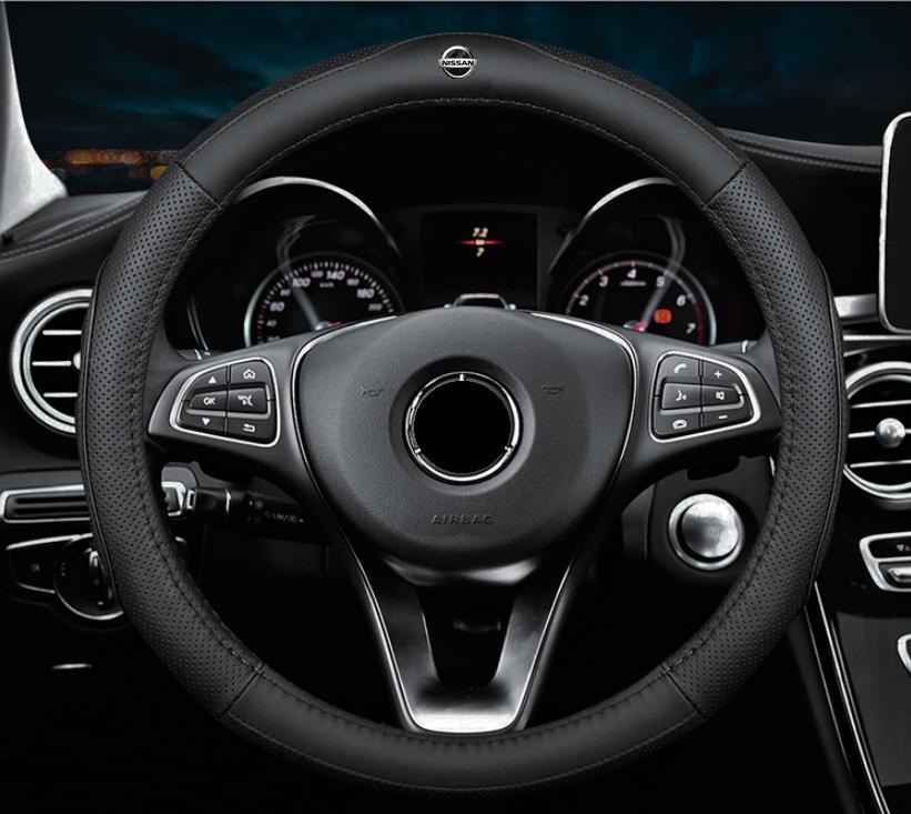 Чехол оплетка Cool на руль для автомобиля Nissan натуральная кожа