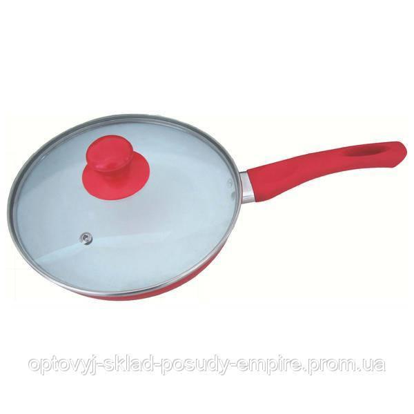 Сковорода з керамічним антипригарним покриттям Empire 240 мм з кришкою 7524