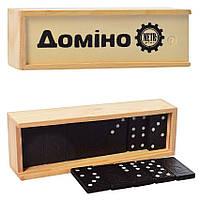 Доміно в дерев'яній коробці