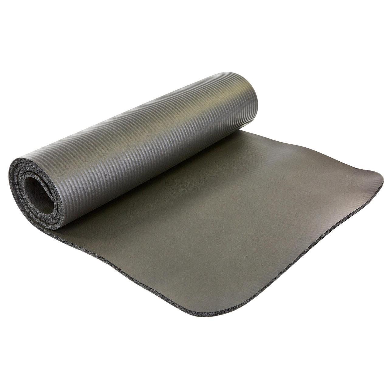 Коврик для йоги и фитнеса NBR 10мм SP-Planeta FI-6986 (размер 1,83мx0,61мx10мм, фиксирующая резинка, цвета в
